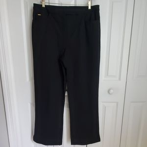 St. John Sport Black High Rise Straight Leg Pant